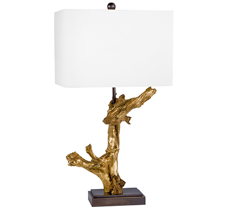 Gold driftwood table lamp anne hagerty interiors gold driftwood table lamp mozeypictures Image collections