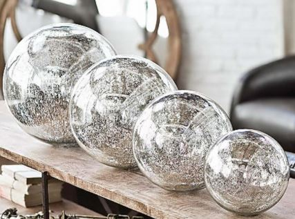 silver globes